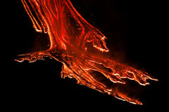 Mount Etna Eruption and lava flow Stock Photo