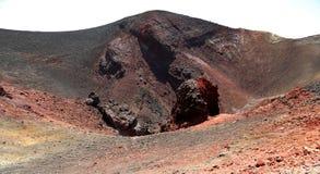 Mount Etna krater Fotografering för Bildbyråer