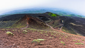 Mount Etna landscape with volcano craters in Sicily Stock Images