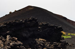 Mount Etna landscape with volcano craters in Sicily Stock Photo