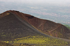 Mount Etna landscape with volcano craters in Sicily. Italy Stock Image