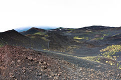 Mount Etna landscape with volcano craters in Sicily. Italy Stock Photos