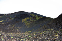 Mount Etna landscape with volcano craters in Sicily. Italy Stock Photography