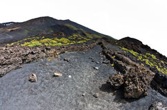 Mount Etna landscape with volcano craters in Sicily Royalty Free Stock Image