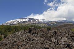 Mount Etna landskap Arkivbild