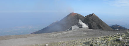 Mount Etna. Lateral crater of volcano Etna Stock Photos