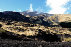 Mount Etna lava Stock Image