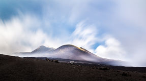 Mount Etna with long exposure Stock Images