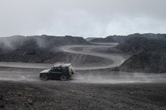 Mount Etna offroad. Theway from Mount Etna to Rifugio Sapienza Royalty Free Stock Photography