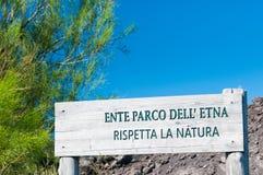 Mount Etna Park Stock Photo