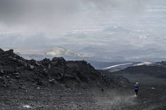 Mount Etna. In the road from Mount Etna to Ruffigio Sapienza Royalty Free Stock Photography