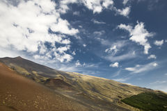 Mount etna scenery Royalty Free Stock Photos