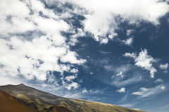 Mount etna scenery Royalty Free Stock Photo