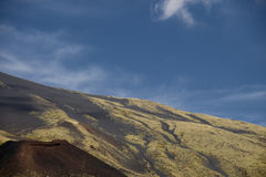 Mount etna scenery. Scenery around mount etna in sicily, italy stock photo