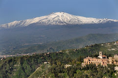 Mount etna - sicily. View on mount etna - sicily stock photography