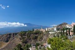 Mount Etna, Taormina, Sicily stock photography