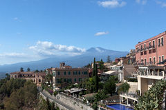 Mount Etna, Taormina, Sicily Royalty Free Stock Images