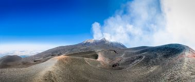 Mount Etna volcano panorama Royalty Free Stock Photo