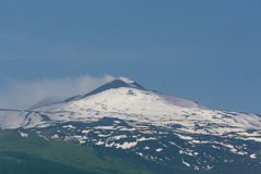 Mount etna. The volcano mount etna in sicily stock image