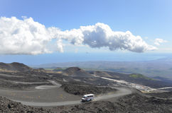 Mount Etna Vulcano crater royalty free stock photos