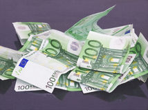 Mount of 100 Euros Stock Images