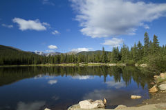 Mount Evans CO Echo Lake. A rocky mountain scenic with a reflective lake Stock Image