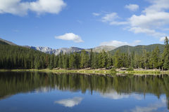 Mount Evans CO Echo Lake. A rocky mountain scenic with a reflective lake Royalty Free Stock Photo