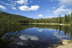 Mount Evans CO Echo Lake. A rocky mountain scenic with a reflective lake Royalty Free Stock Photography