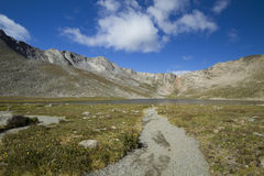 Mount Evans CO Summit Lake. A  trail leading to a lake in the mountains Royalty Free Stock Photography