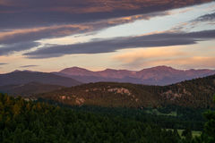 Mount Evans - Colorado. From Three Sisters/Alderfer Park, in Evergreen, Colorado stock photos