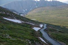 Mount Evans Road. Near the summit of Mount Evans Road, Idaho Springs, Colorado Royalty Free Stock Image