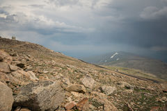 Mount Evans Road. Nearing the summit of Mount Evans, one of Colorado& x27;s Fourteeners Royalty Free Stock Image