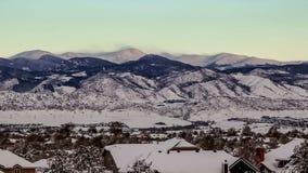 Mount Evans Sunrise Time Lapse stock video footage