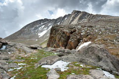 Mount Evans Tundra. Tundra scene along the trail from Summit Lake to the summit of Mount Evans in Colorado stock photos