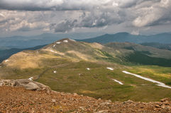 Mount Evans Tundra. Tundra scene along the trail from Summit Lake to the summit of Mount Evans in Colorado stock image