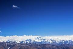 Mount Everest и висок flannelette Стоковые Фото
