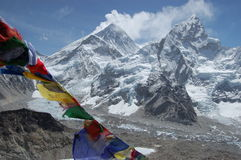 Mount Everest. View on Mount Everest from Kala Patthar Royalty Free Stock Photography