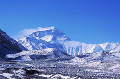 Mount Everest. Beautiful scenery at the base camp of Mount Everest,the north face,tibet Stock Photos
