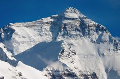 Mount Everest. North Face, view from tibetan base camp stock images