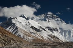 Mount Everest. View from Tibet Stock Photography