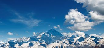 Mount Everest. View from Tibet Royalty Free Stock Images