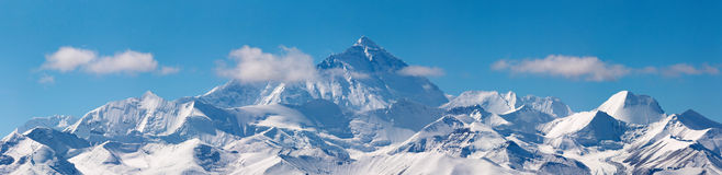 Mount Everest. View from Tibet Stock Images