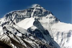 Mount Everest, 8850m. Stockfotografie