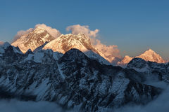 Mount Everest-Ansicht von Gokyo Ri Stockbilder