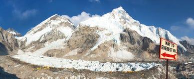 Mount Everest base camp, Nepal himalayas mountains royalty free stock photos