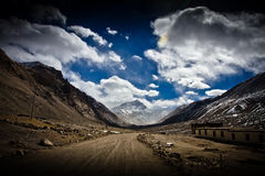 Mount Everest Base Camp from the road, Tibet Royalty Free Stock Photography