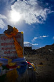Mount Everest Base Camp Sign Tibet Royalty Free Stock Images