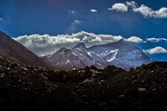 Mount Everest Base Camp in Tibet Stock Photography