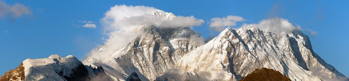 Mount Everest with beautiful clouds Stock Photography