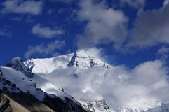 Mount Everest in the could. Mount Everest :The world first peak Royalty Free Stock Photography
